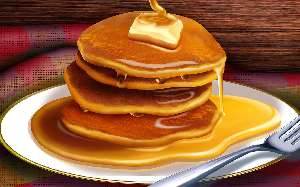 Pancakes with suryp and butter nutritional value