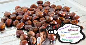 how many carbs are in boiled chestnuts