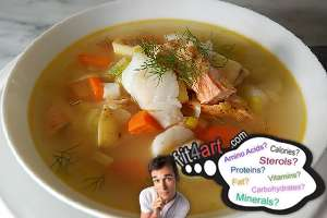 how many calories are in a fish broth
