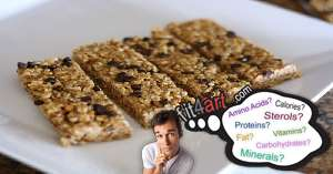 what vitamins are in a granola bar with peanut butter