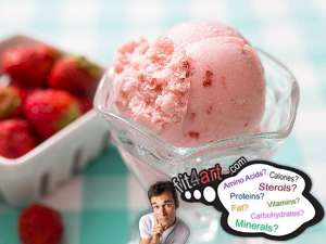 how many calories are in a strawberry ice cream