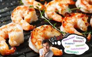 how many calories are in the shrimps